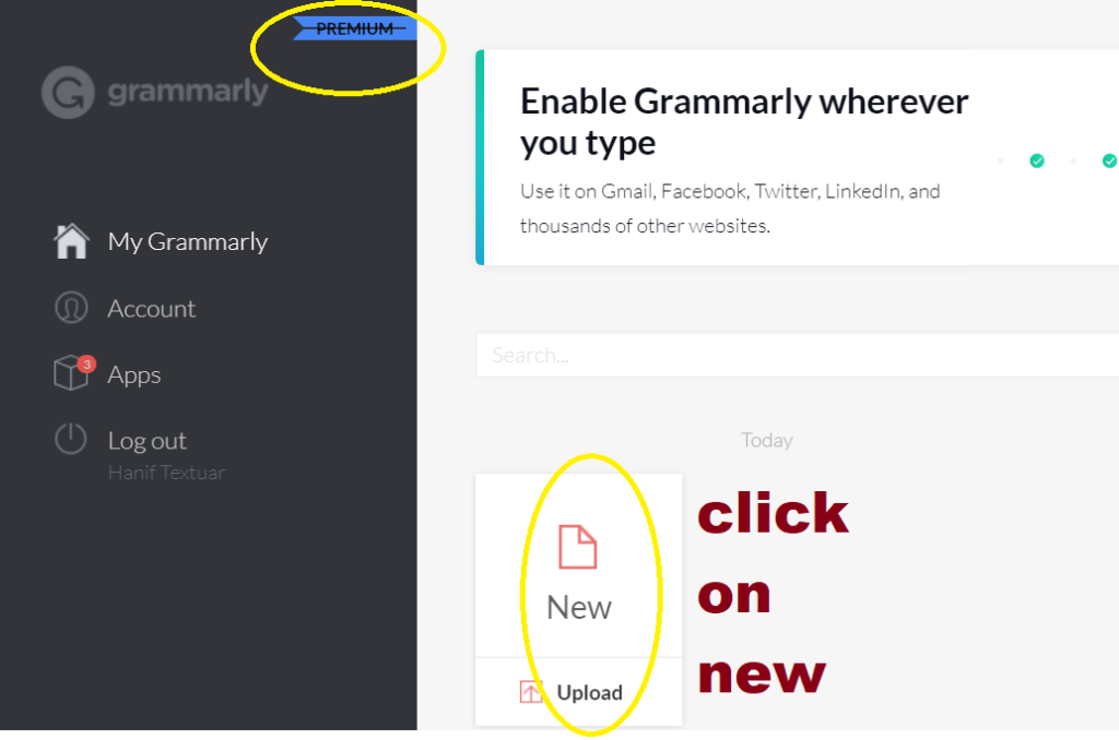 steps to use grammarly