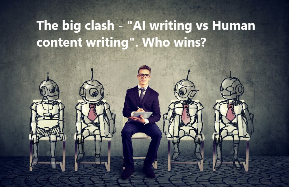 AI writers vs professional content writer