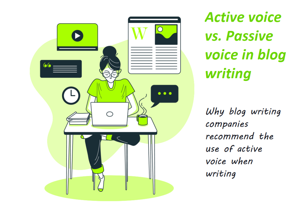 Why Blog Writing Companies Use Active Voice in Content