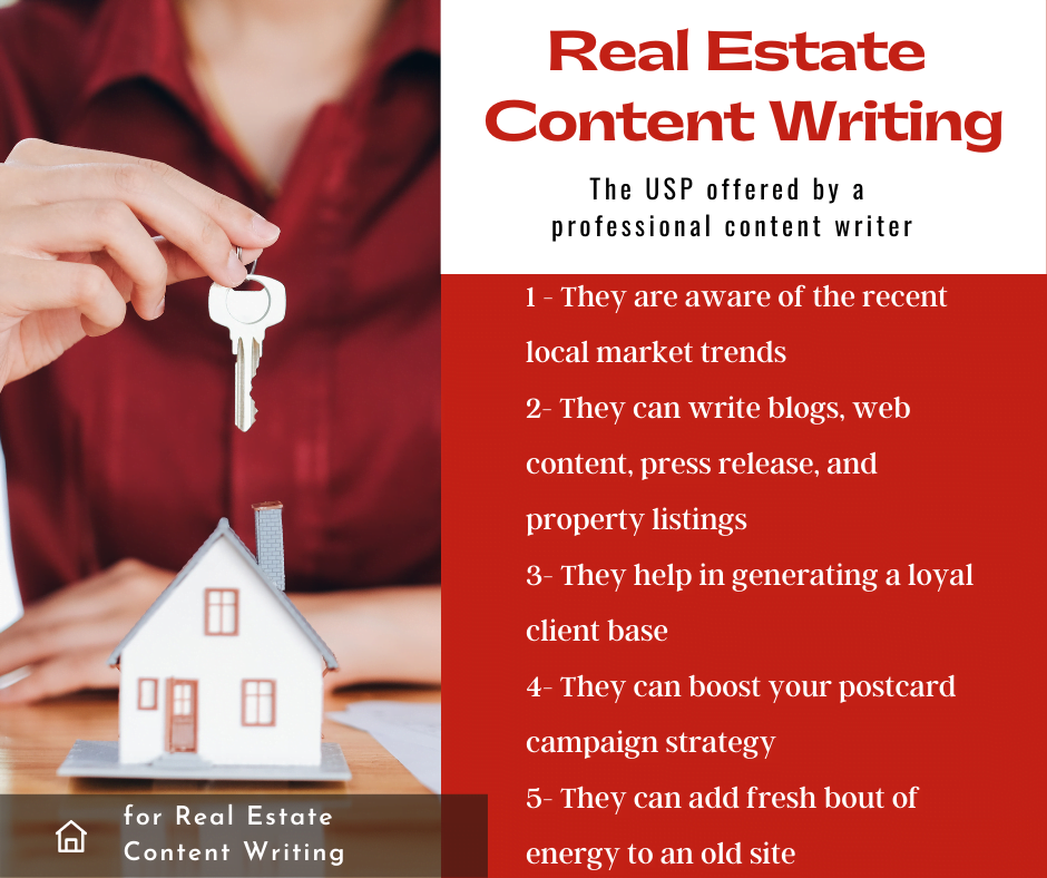 real estate content writing